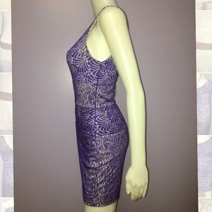 bebe Dresses - Bebe One Shoulder Mixed Lace Patterned Dress XS